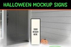 Halloween Vertical Sign Mockup Set, Tall Porch Sign Mock-up Product Image 6