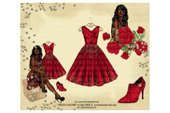 Christmas Clip art Afro American Clipart Christmas Clipart Product Image 5