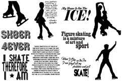 Ice Skating Silhouettes AI EPS PNG, Figure Skating Product Image 5