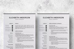 Resume Template | CV Cover Letter - Elizabeth Anderson Product Image 6