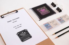 Business Cards with typewriters Product Image 4