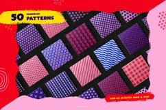 Hand-drawn seamless patterns, shapes & brushes bundle Product Image 5