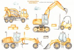Construction machines watercolor Product Image 10