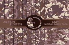 Camo digital paper pack, Military Scrapbook papers,JPG files Product Image 1