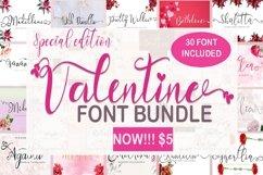 Valentine Font Bundle Product Image 1