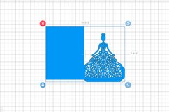 Quinceanera invitation template, Svg files for cricut Product Image 2