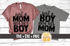 Mommy and Me SVG - Just A Mom And Her Boy Product Image 1
