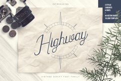 Highway - Vintage script font family with Extras Product Image 1