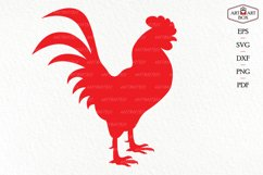 Cool rooster. Frame, monogram, silhouette. Product Image 2