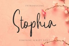 Web Font Stophia Font Product Image 1
