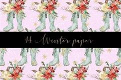 Winter digital paper pattern Product Image 6