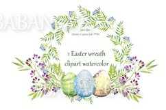 Easter floral wreath with flowers, branches and eggs Product Image 1