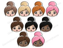 Mood 1 CUTE DOLLS Sweet Home Lady Boss Stickers PNG Files Product Image 3