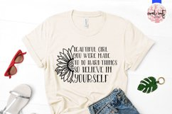 Beautiful girl you were - Women Empowerment EPS SVG DXF PNG Product Image 3