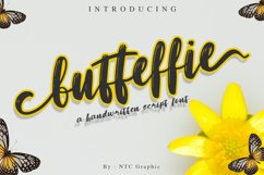 Butteffie Script Font Product Image 1