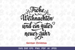Frohe Weihnachten Deutschland Christmas svg Around the World Product Image 3