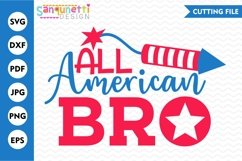 All american bro patriotic SVG, 4th of July Product Image 1