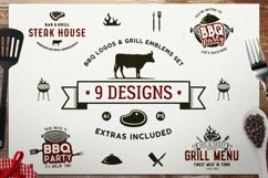 BBQ SVG Logos Bundle Grill Emblems Icons Set, Barbecue DXF Product Image 1