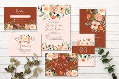 Terracotta Peach Floral Wedding Invitation Set Product Image 1