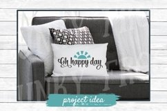Oh Happy Day - Inspirational SVG Cut File for Crafters Product Image 2