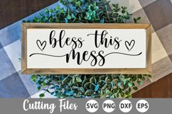 Home SVG | Sign SVG | Bless This Mess SVG Product Image 1