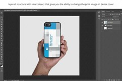 2d Phone Case in Hand PSD Mockup Template Iphone 7 Product Image 3