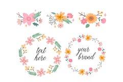 Vector Flower Illustrations Frames Product Image 5
