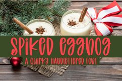 Spiked Eggnog - A Quirky Hand-Lettered Font Product Image 1