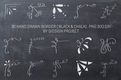30 Hand Drawn Border Black and White Clipart, PNG 300 DPI Product Image 1