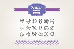 Hand Drawn Zodiac Icons Product Image 1