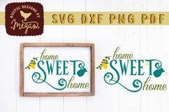 Home Sweet Home Lemon Summer Wood Sign SVG DXF Cut File Product Image 1