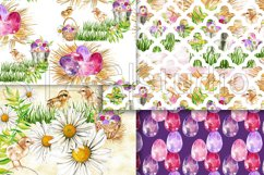 Easter Paper Pack Purple Easter Seamless Pattern Digital Fab Product Image 4