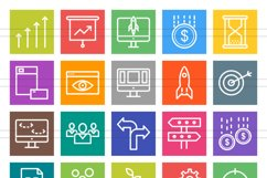 50 Startup Line Multicolor B/G Icons Product Image 2