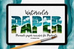 WATERCOLOR PAPER CANVASES FOR PROCREATE Product Image 1