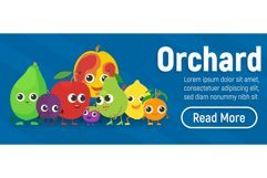Orchard concept banner, isometric style Product Image 1