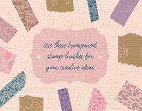 Washi Tapes and Paper Embellishments Procreate Brushes Product Image 4