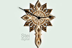 Cross Wall Clock design dxf, Cricut svg, laser cutting file. Product Image 5