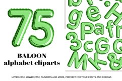 Green Foil Balloon Letters Numbers & Symbols Clipart Product Image 1