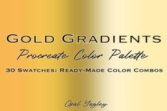 Gold Gradient Procreate Color Palette / Metallic Colors Product Image 1