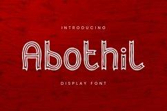 Web Font Abothil Font Product Image 1