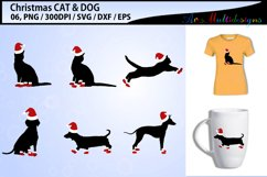 christmas CAT vector svg vector / christmas DOG vector svg Product Image 1