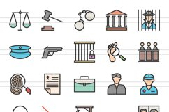 150 Law & Order FIlled Line Icons Product Image 6