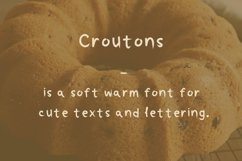 Croutons font Product Image 1