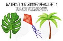 Watercolor Summer Beach Clip Art Set 1 Product Image 4