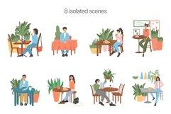 Modern Café Interiors vector illustration Product Image 3