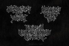 Heartless - Most Wanted Deathmetal Font Product Image 5