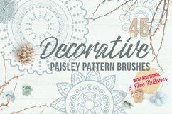 Decorative Paisley Pattern Brushes Product Image 1