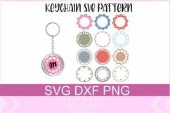 Keychain Circle Patterns SVG PNG DXF Files Product Image 1