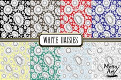 White Daisies - 16 Digital Papers/Backgrounds Product Image 2
