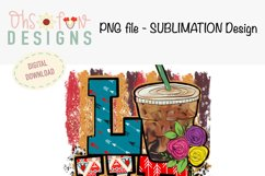 Love coffee| aztec | animal print | sublimation Product Image 2